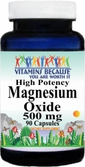 4239 Magnesium Oxide High Potency 500mg 90caps Buy 1 Get 2 Free