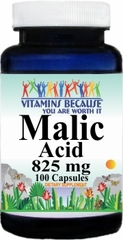4314 Malic Acid 825mg 100caps Buy 1 Get 2 Free
