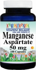 4413 Manganese Aspartate 50mg 100caps Buy 1 Get 2 Free