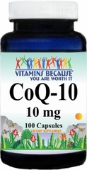 4758 Coenzyme Q-10 10mg 100caps Buy 1 Get 2 Free