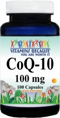 4833 Coenzyme Q-10 100mg 100caps Buy 1 Get 2 Free