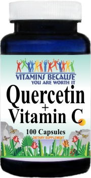 5007 Quercetin 500mg and Vitamin C 1400mg 100caps Buy 1 Get 2 Free