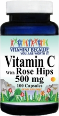 5168 Vitamin C with Rosehips 500mg 100caps Buy 1 Get 2 Free