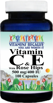 5281 Vitamin C & E with Rosehips 100caps Buy 1 Get 2 Free