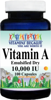 5403 Vitamin A (Emulsified Dry) 10000IU 100caps Buy 1 Get 2 Free