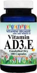 5540 Vitamin A, D3 & E (Emulsified Dry) 100caps Buy 1 Get 2 Free