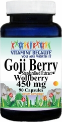 5700 Goji Berry Standardized Extract 450mg 90caps Buy 1 Get 2 Free