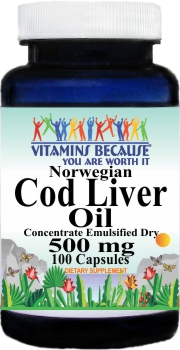 5748 Norwegian Cod Liver Oil Concentrate 500mg 100caps Buy 1 Get 2 Free