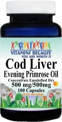 5786 Cod Liver Oil Concentrate and Evening Primrose 100caps Buy 1 Get 2 Free