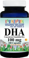5847 DHA Fish Oil (Emulsified Dry) 100mg 100caps Buy 1 Get 2 Free