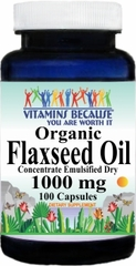 5861 Organic Flaxseed Oil (Emulsified Dry) 1000mg 100caps Buy 1 Get 2 Free