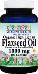 5885 Organic Flaxseed Oil High Lignan 1000mg 100caps Buy 1 Get 2 Free
