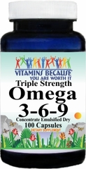 5922 Triple Strength Omega 3-6-9 (Emulsified Dry) 100caps Buy 1 Get 2 Free