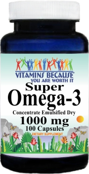 5960 Super Omega 3 (Emulsified Dry) 1000mg 100caps Buy 1 Get 2 Free