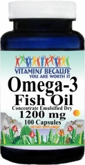 5984 Omega 3 Fish Oil (Emulsified Dry) 1200mg 100caps Buy 1 Get 2 Free
