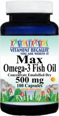 6004 Max Omega 3 EPA Fish Oil 500mg 100caps Buy 1 Get 2 Free