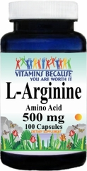 6165 L-Arginine 500mg 100caps Buy 1 Get 2 Free