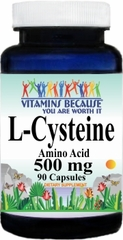6356 L-Cysteine 500mg 90caps Buy 1 Get 2 Free