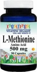 6462 L-Methionine 500mg 90caps Buy 1 Get 2 Free