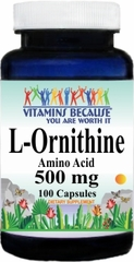 6486 L-Ornithine 500mg 100caps Buy 1 Get 2 Free