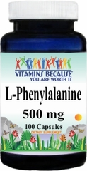 6523 L-Phenylalanine 500mg 100caps Buy 1 Get 2 Free