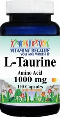 6547 L-Taurine 1000mg 100caps Buy 1 Get 2 Free