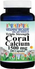6608 Triple Strength Coral Calcium 1500mg 100caps  Buy 1 Get 2 Free