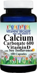 6769 Calcium Carbonate 600mg + Vit D and Soy Iso 100caps Buy 1 Get 2 Free
