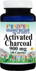 7162 Activated Charcoal 900mg 100caps Buy 1 Get 2 Free