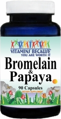 7247 Bromelain and Papaya 500mg/500mg 90caps Buy 1 Get 2 Free