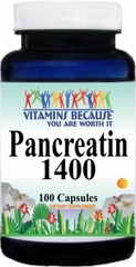 7407 Pancreatin 1400mg 100caps Buy 1 Get 2 Free