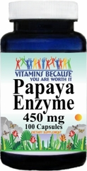 7421 Papaya Enzyme 450mg 100caps Buy 1 Get 2 Free