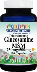 7674 Triple Strength Glucosamine and MSM 100caps Buy 1 Get 2 Free