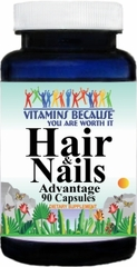 9654 Hair & Nails Advantage 90caps Buy 1 Get 2 Free