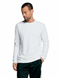 Alo Men's Long-Sleeve 100% Polyester Performance T-Shirt