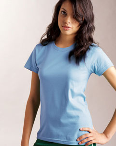 American Apparel Ladies 39 Fine Cotton Jersey T Shirt