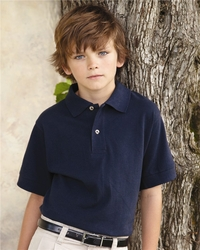 Boys / Girls 100% Preshrunk Ringspun Cotton Pique Polo