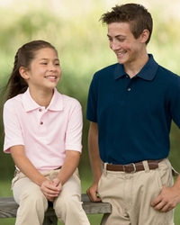 Boys - Girls 100% Ringspun Cotton Pique Polo Shirt