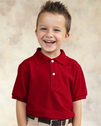 Boys / Girls 50/50 Jersey Polo with Two-Button Placket