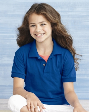 Boys - Girls 5.6 oz., 50/50 Jersey Polo Shirt