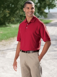Devon & Jones Men's Peruvian Pima Interlock Polo