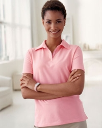 Devon & Jones Women's Solid Stretch Jersey Polo Shirt