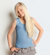 Girl's Baby Rib Wide Strap Tank Top