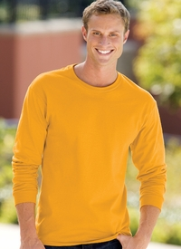 Hanes Men's Long-Sleeve Tag-Free Tee