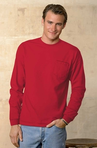 Hanes Men's Long-Sleeve Tagless T-Shirt with Pocket
