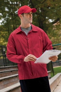 Men's Wind & Water-Resistant Nylon Staff Jacket
