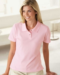 Harriton Women's 100% Ringspun Cotton Pique Polo