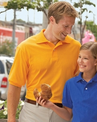 Jerzees Men's 50/50 Jersey Polo with Pearlized Buttons