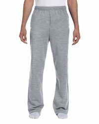Jerzees Men's Open-Bottom Fleece Sweatpants with Pockets