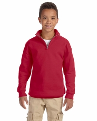 Jerzees Boys / Girls Quarter-Zip Cadet Collar Sweatshirt